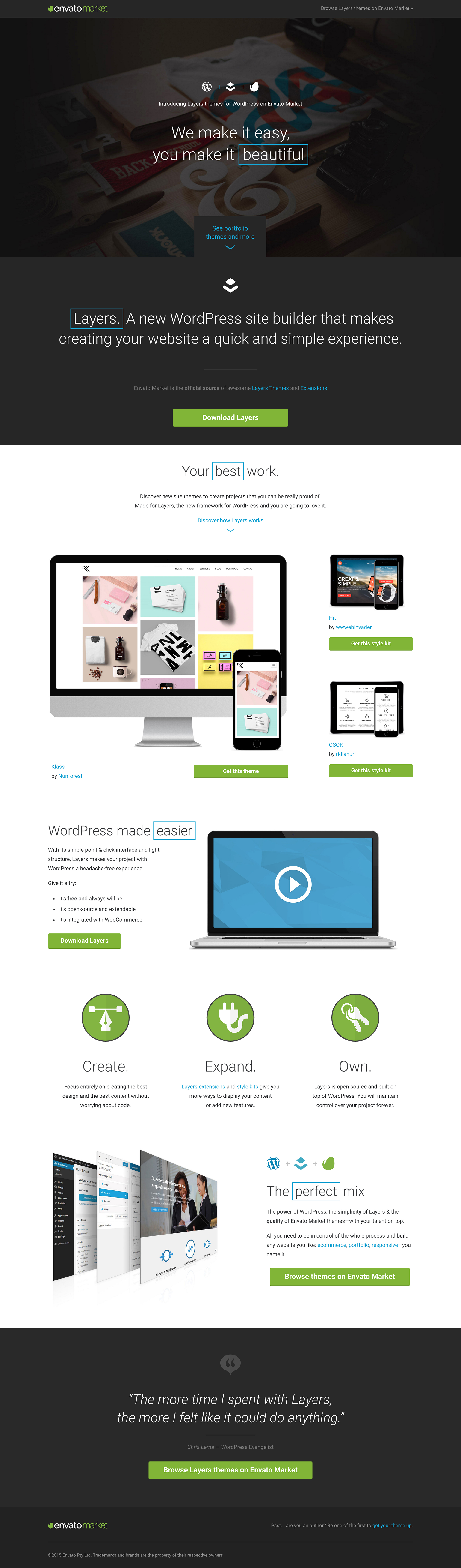 Layers Landing Page